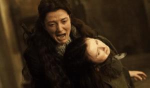 کتلین استارک در حال کشتن فرزند فری