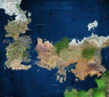 نقشه دنیای نغمه ای از یخ و آتش