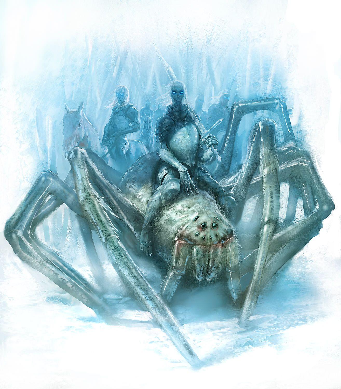 آدرها سوار بر عنکبوتهای یخی