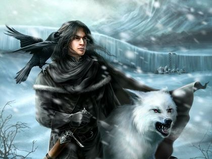 fantasy art artwork warriors a song of ice and fire jon snow 1600x1200 wallpaper_www.wallpaperno.com_69