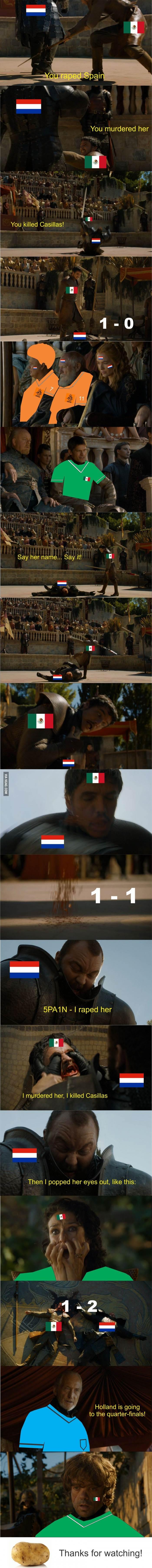 دوئل مکزیک هلند کوه با افعی سرخ