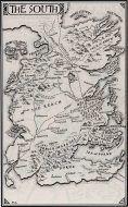 نقشه جنوب قلمرو هفت پادشاهی