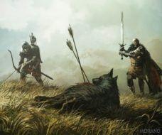 300px T Jedruszek direwolf 228x190 - آموزش نقاشی کردن نشان خاندان های مطرح وستروس:دایرولف خاندان استارک
