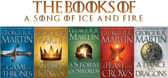 جلد کتاب های مجموعه نغمه ای از یخ و آتش