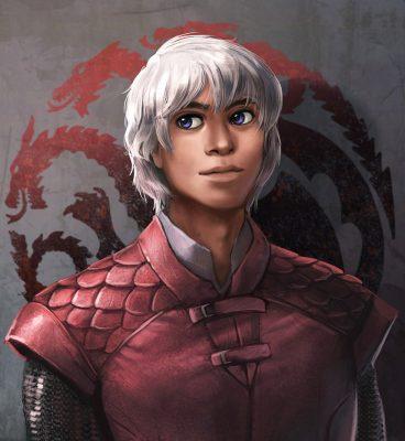 11 Aegon Targaryen VI by elontirien 368x400 - تحلیل و بررسی تمام رویاها و الهاماتی که دنریس در خانه نامیرایان دید