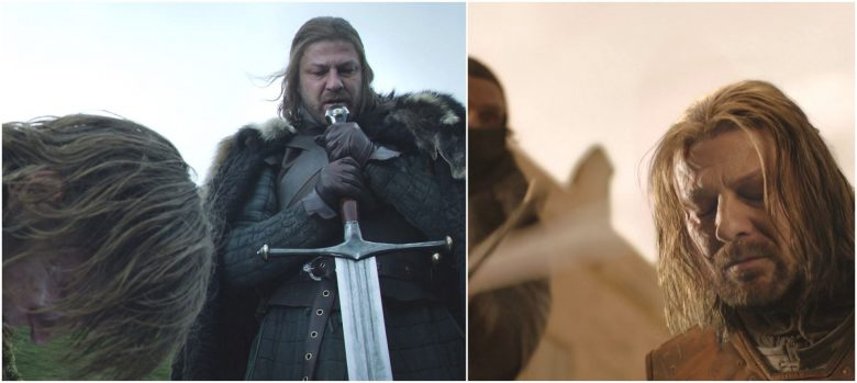 Ned Stark Death Ice 1920x859 780x349 - مرگهای نمادین و طعنه آمیز در بازی تاج و تخت (بخش اول)